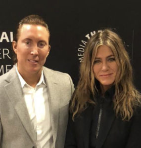 Daniel Neiditch and Jennifer Aniston